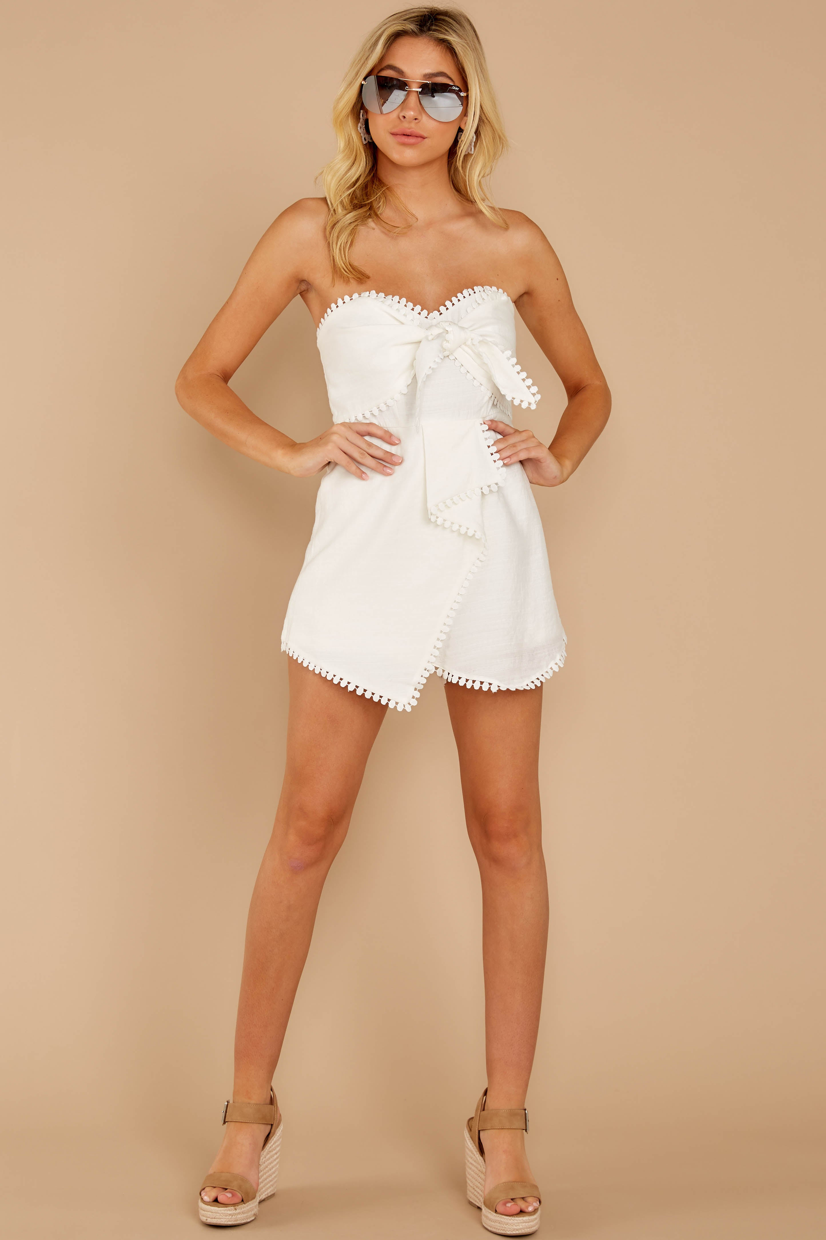 2 No Objections White Romper at reddressboutique.com