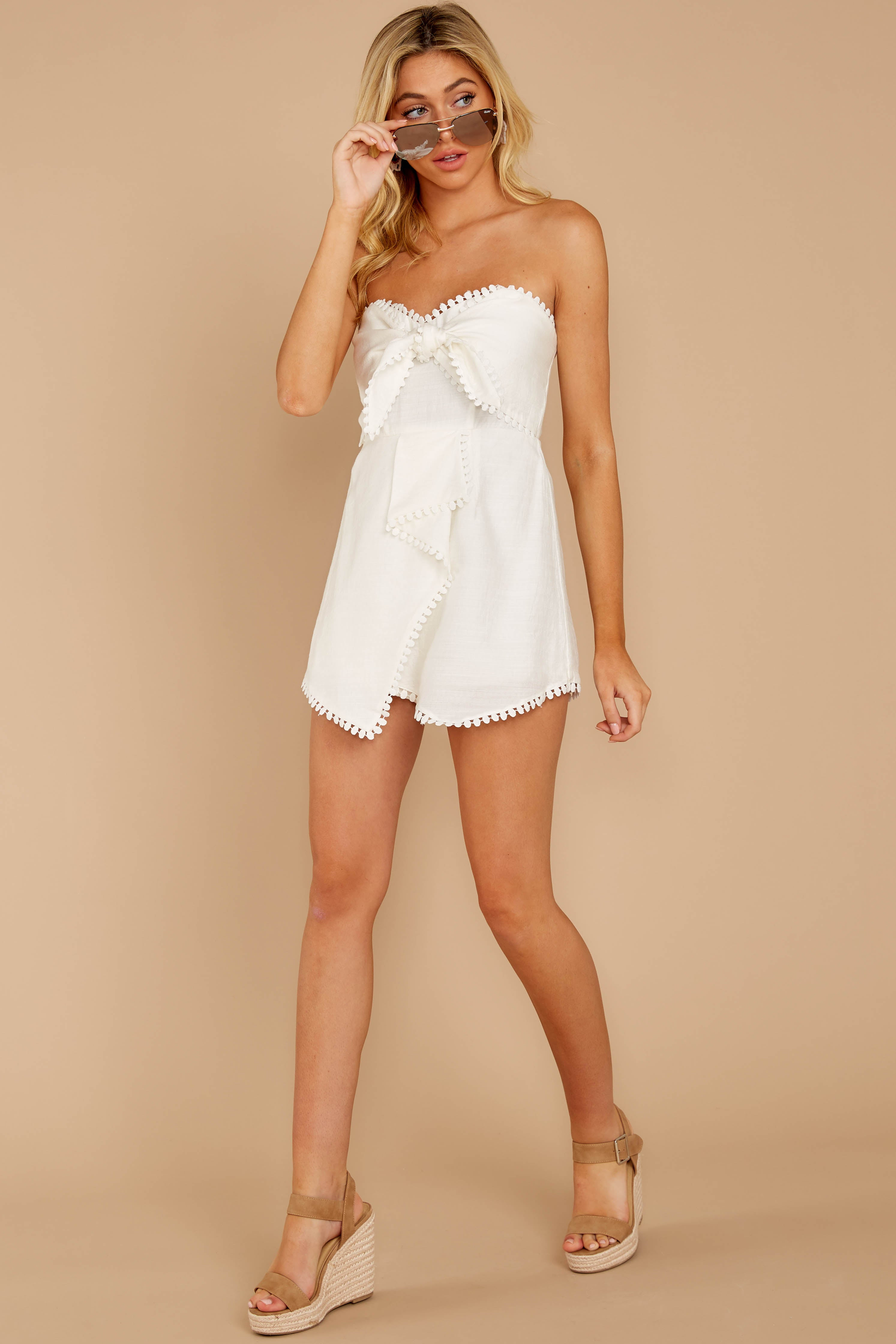 4 No Objections White Romper at reddressboutique.com