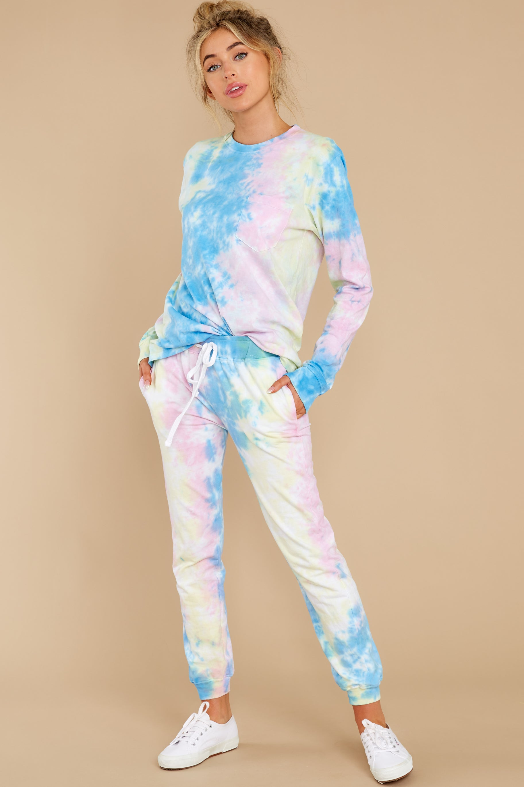 4 Summer In Sav Pastel Pink Tie Dye Top at reddress.com