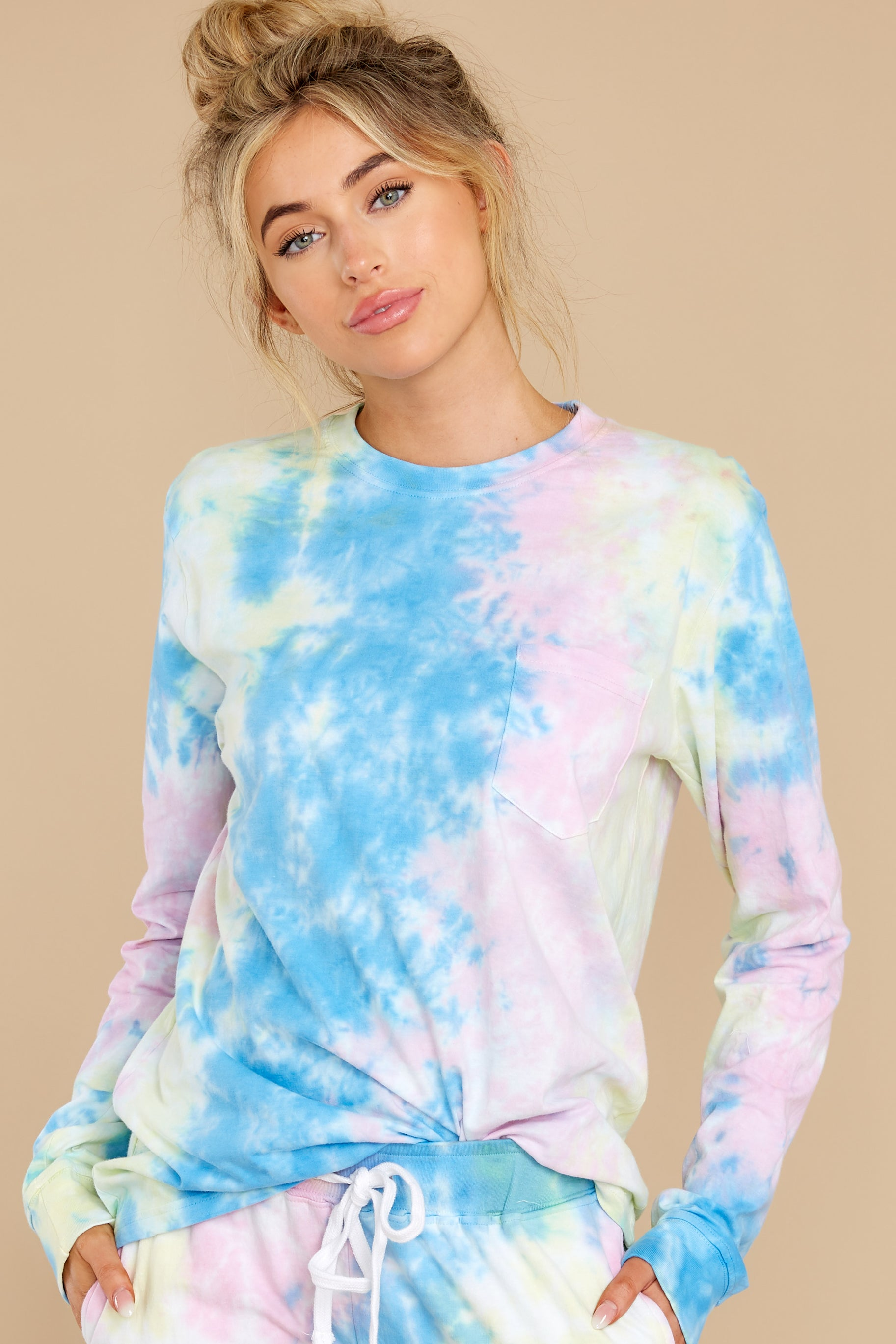 1 Summer In Sav Pastel Pink Tie Dye Top at reddress.com