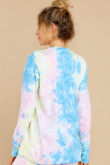 7 Summer In Sav Pastel Pink Tie Dye Top at reddress.com