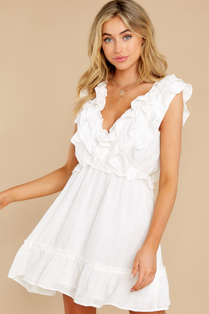 1 Smile Awhile White Midi Dress at reddress.com