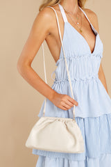2 A Rare Gem Ivory Vegan Leather Crossbody Bag at reddress.com