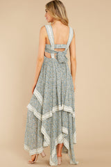 7 Fall In Love Sage Green Floral Print Maxi Dress at reddress.com