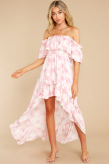 3 Instant Romance Pink Multi Print High-Low Dress at reddress.com