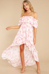 4 Instant Romance Pink Multi Print High-Low Dress at reddress.com