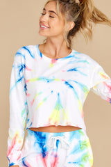 1 One Of A Kind Neon Firework Crop Top at reddress.com