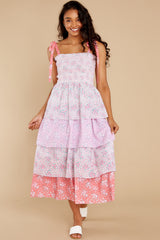 10 Caressa Dress In Strawberry Melange at reddress.com