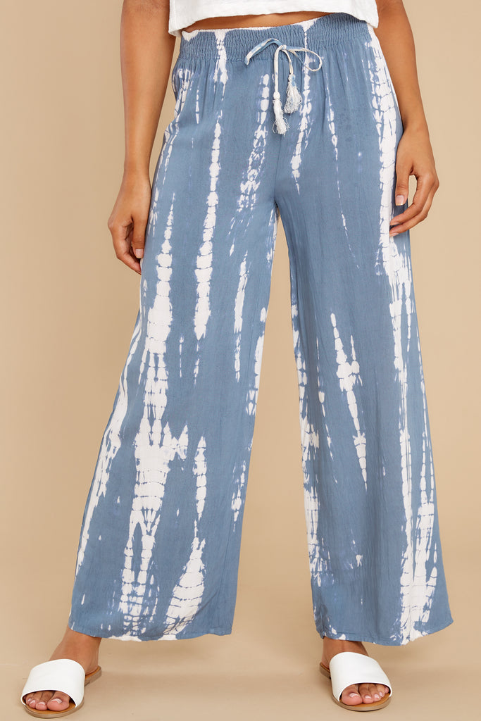 1 Magical Moment Blue Multi Tie Dye Pants at reddress.com