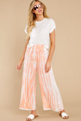 4 All Your Own Peach Tie Dye Pants at reddress.com