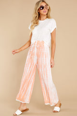 6 All Your Own Peach Tie Dye Pants at reddress.com