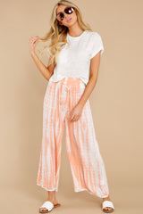 7 All Your Own Peach Tie Dye Pants at reddress.com