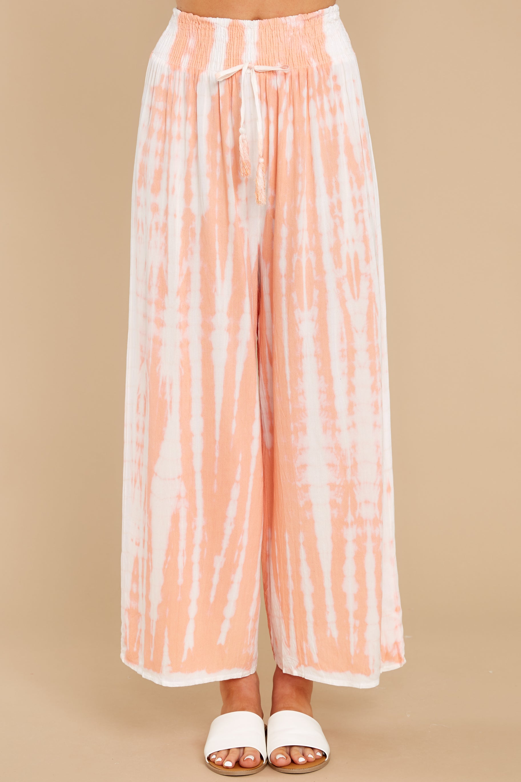 2 All Your Own Peach Tie Dye Pants at reddress.com