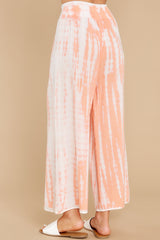 3 All Your Own Peach Tie Dye Pants at reddress.com