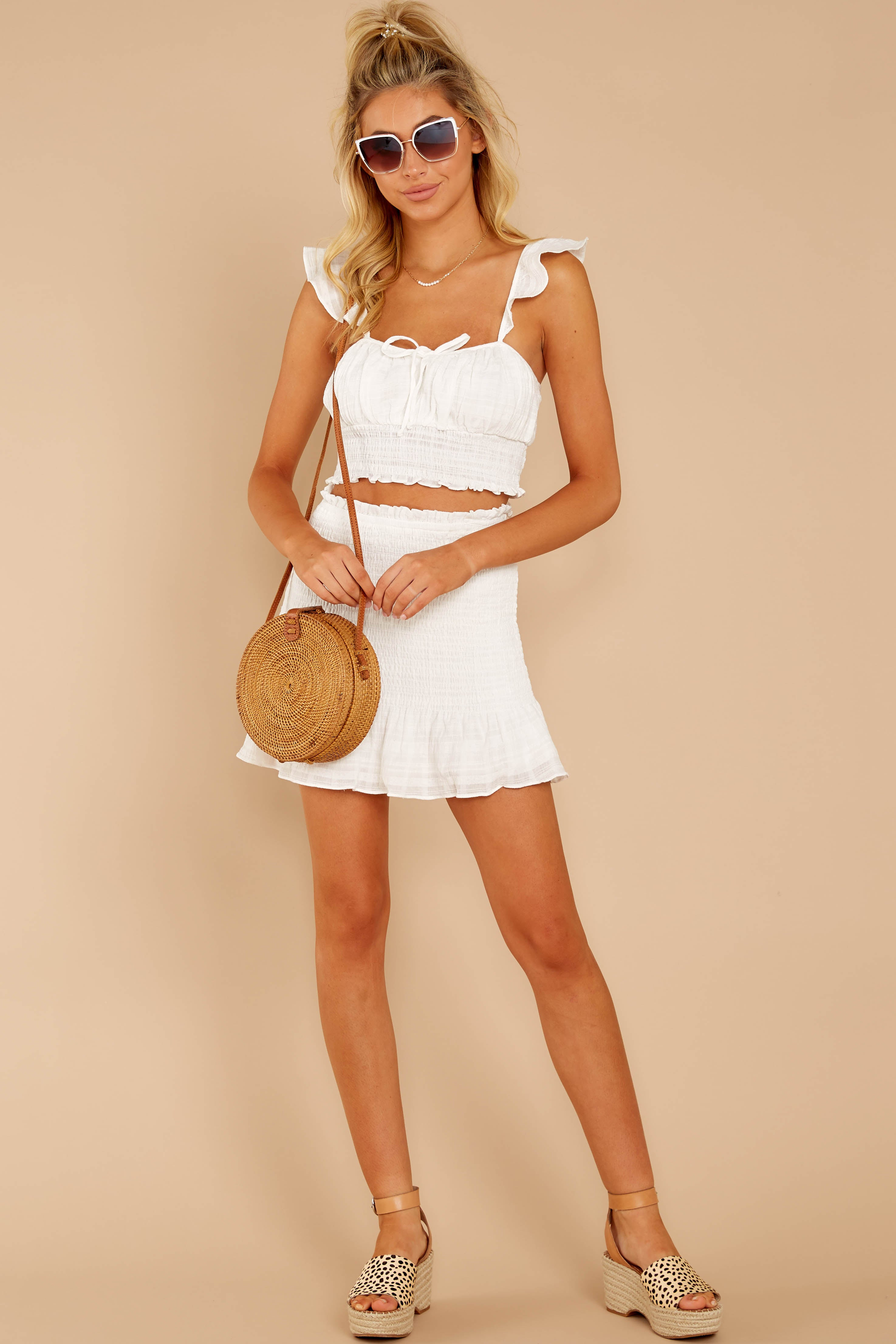 2 Fly Away Tonight White Two Piece Set at reddressboutique.com