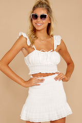 4 Fly Away Tonight White Two Piece Set at reddressboutique.com