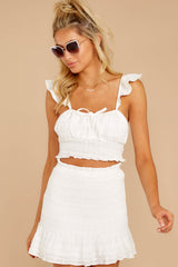 6 Fly Away Tonight White Two Piece Set at reddressboutique.com