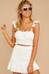 7 Fly Away Tonight White Two Piece Set at reddressboutique.com