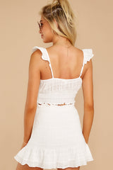 8 Fly Away Tonight White Two Piece Set at reddressboutique.com