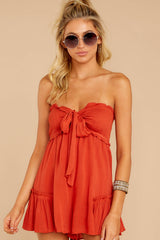 4 In Spades Spiced Orange Romper at reddressboutique.com