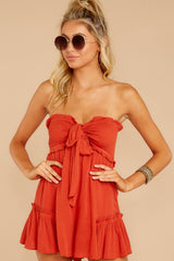5 In Spades Spiced Orange Romper at reddressboutique.com