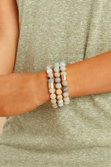 1 The Best Part Light Green Multi Beaded Bracelet Set at reddressboutique.com
