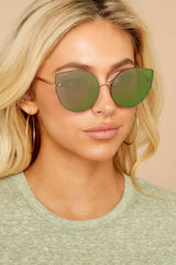 1 Paris Persuasion Green Sunglasses at reddressboutique.com