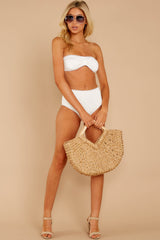 5 Mermaid Sighting White Eyelet Bikini Top at reddress.com