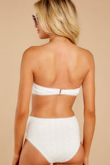 9 Mermaid Sighting White Eyelet Bikini Top at reddress.com