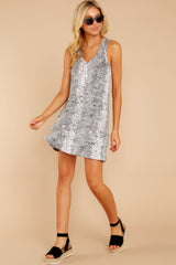3 The Grey Snakeskin Breezy Dress at reddress.com
