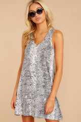 4 The Grey Snakeskin Breezy Dress at reddress.com