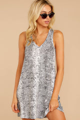 5 The Grey Snakeskin Breezy Dress at reddress.com