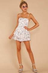 1 All About Love White Floral Print Romper at reddressboutique.com