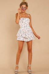 2 All About Love White Floral Print Romper at reddressboutique.com