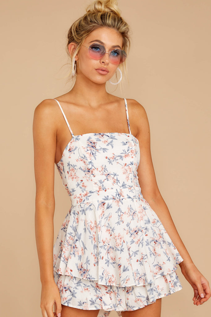 3 All About Spring Ivory Floral Print Romper at reddress.com
