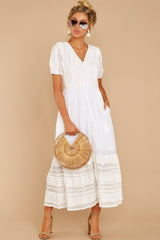 2 Ladies Luncheon White Maxi Dress at reddressboutique.com