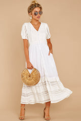 3 Ladies Luncheon White Maxi Dress at reddressboutique.com