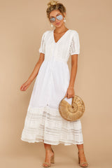 4 Ladies Luncheon White Maxi Dress at reddressboutique.com