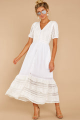 5 Ladies Luncheon White Maxi Dress at reddressboutique.com