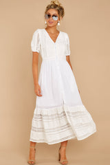 6 Ladies Luncheon White Maxi Dress at reddressboutique.com