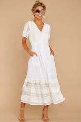 7 Ladies Luncheon White Maxi Dress at reddressboutique.com