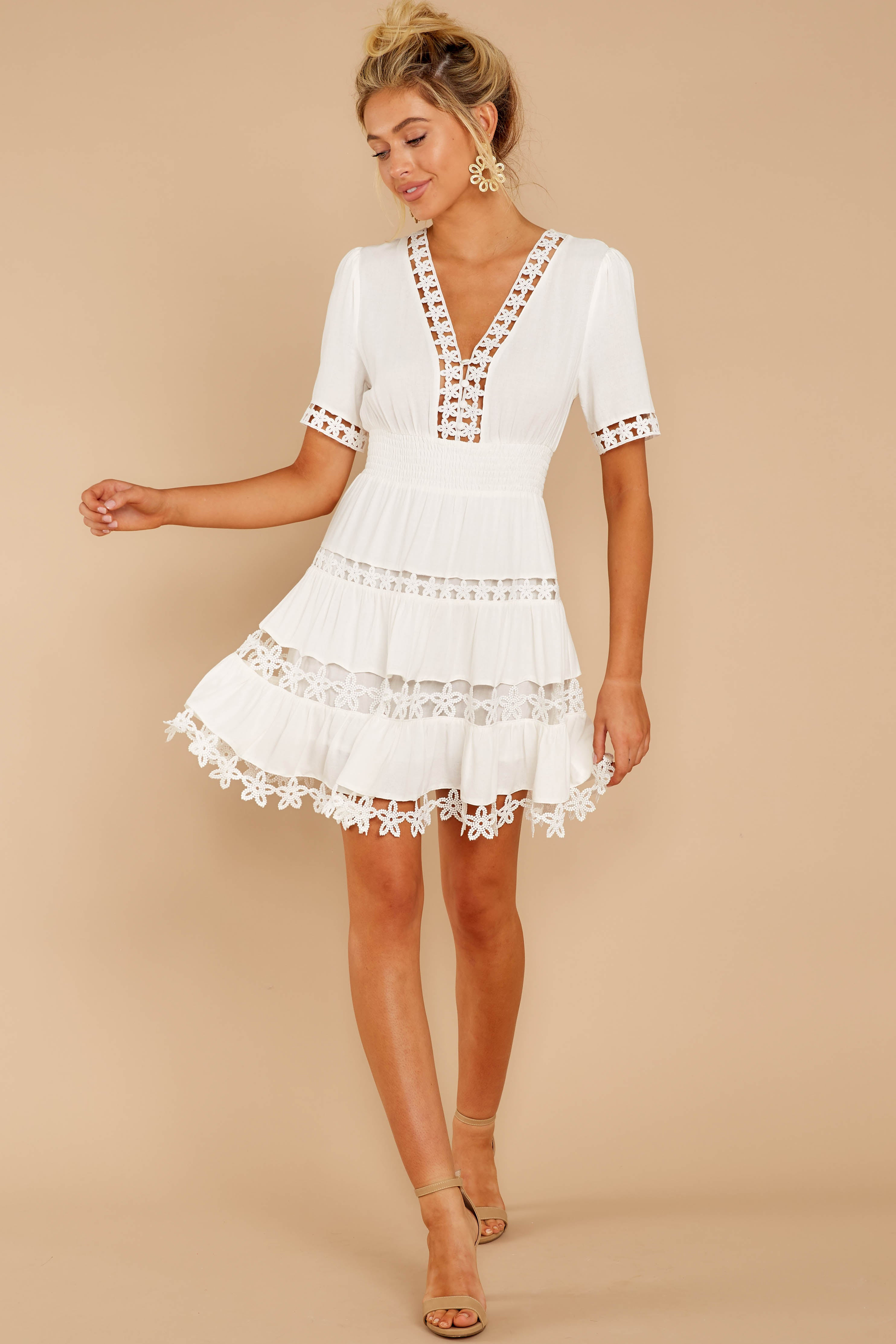 1 Starring Role White Dress at reddressboutique.com