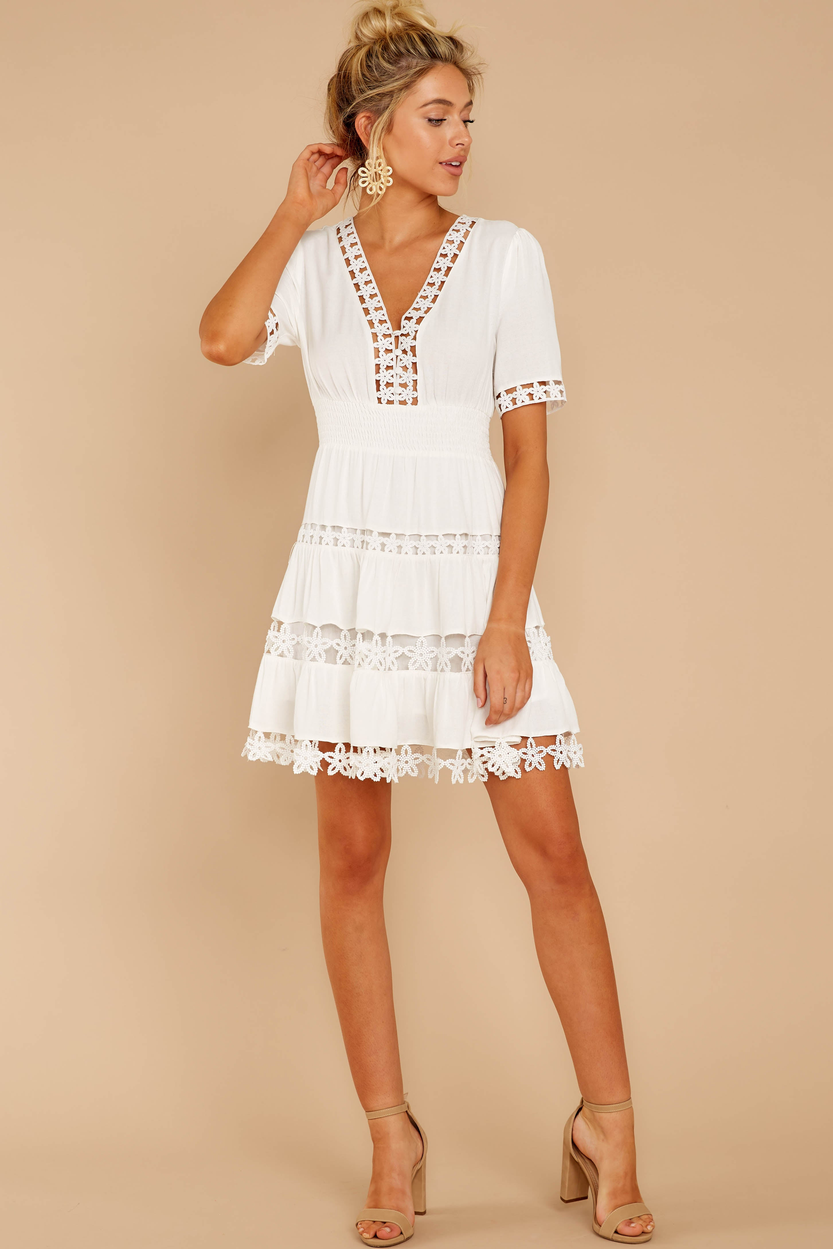 2 Starring Role White Dress at reddressboutique.com