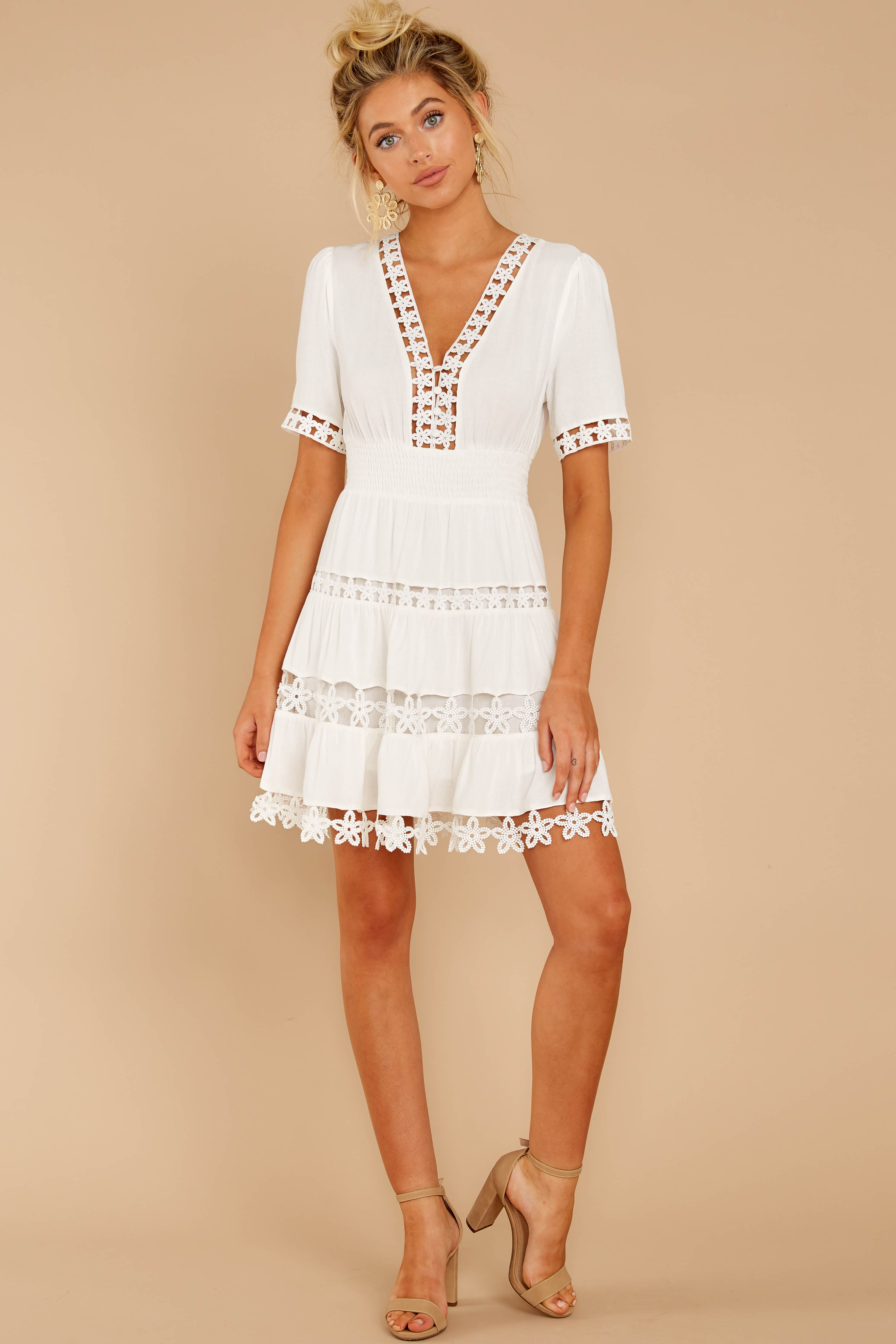 4 Starring Role White Dress at reddressboutique.com