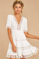 5 Starring Role White Dress at reddressboutique.com