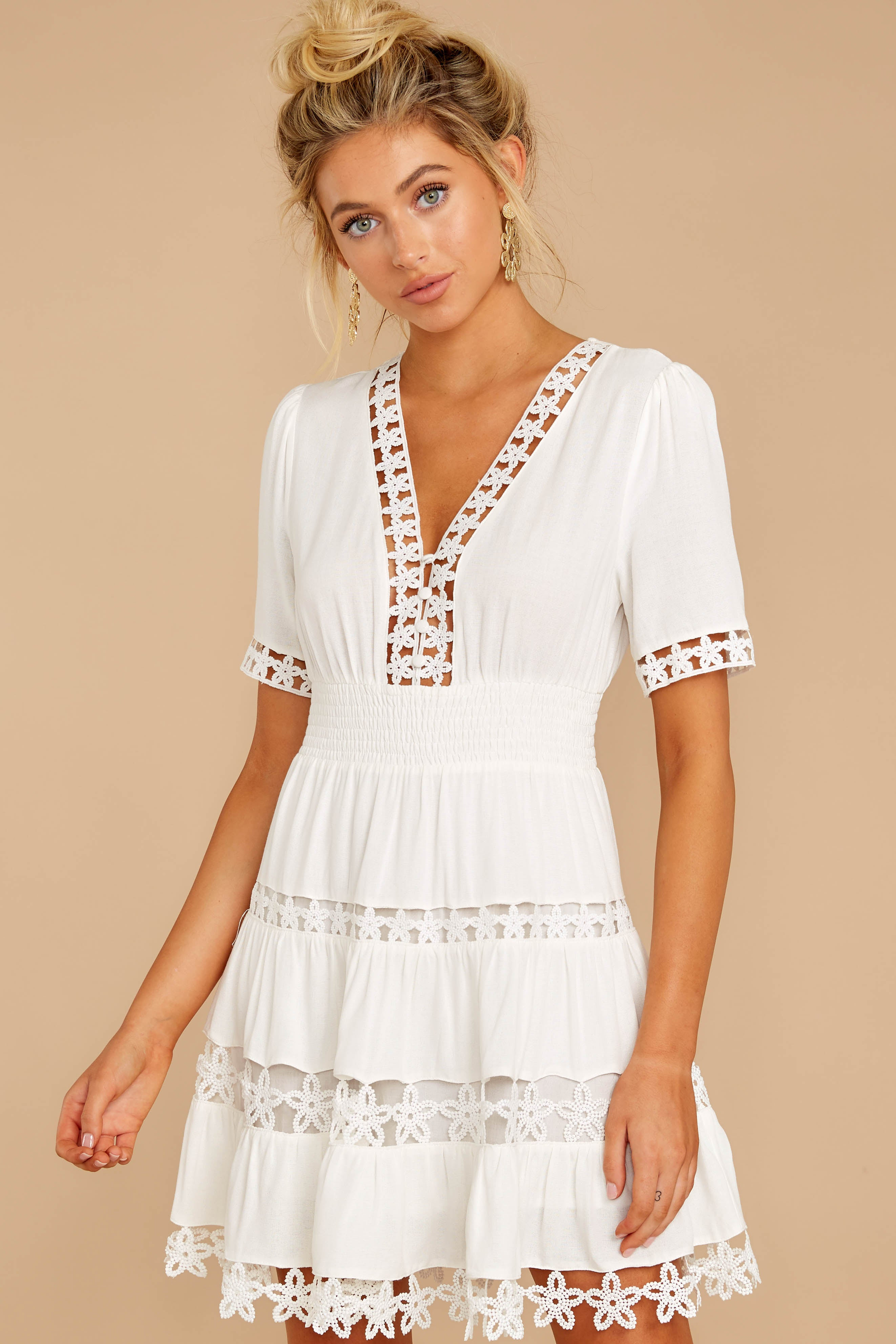 6 Starring Role White Dress at reddressboutique.com