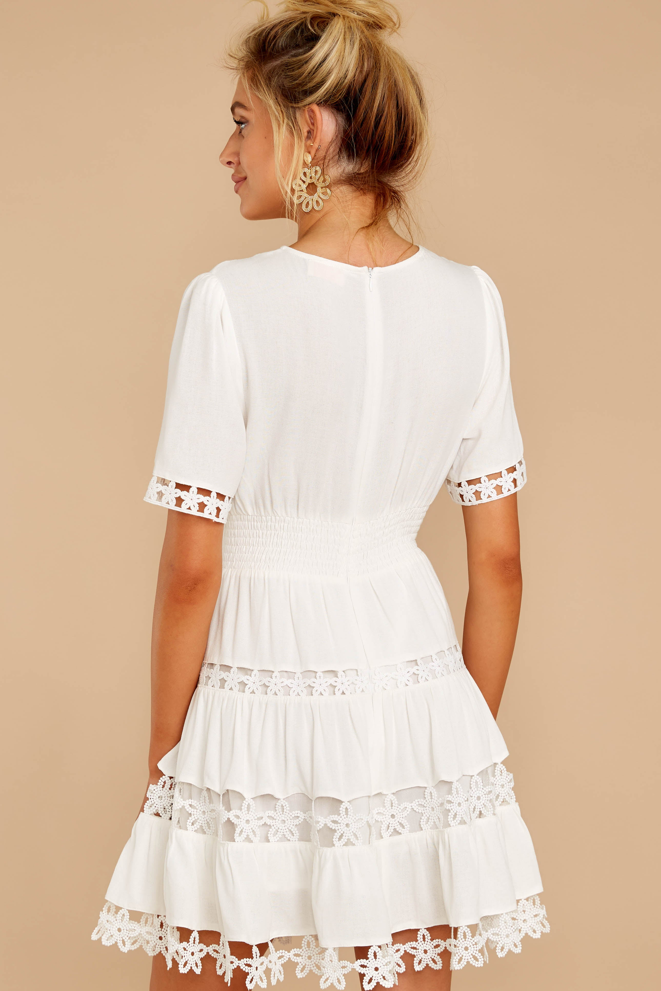 7 Starring Role White Dress at reddressboutique.com