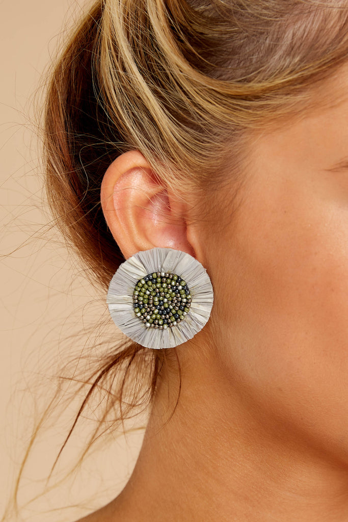 1 No Need To Worry Grey Multi Earrings at reddress.com