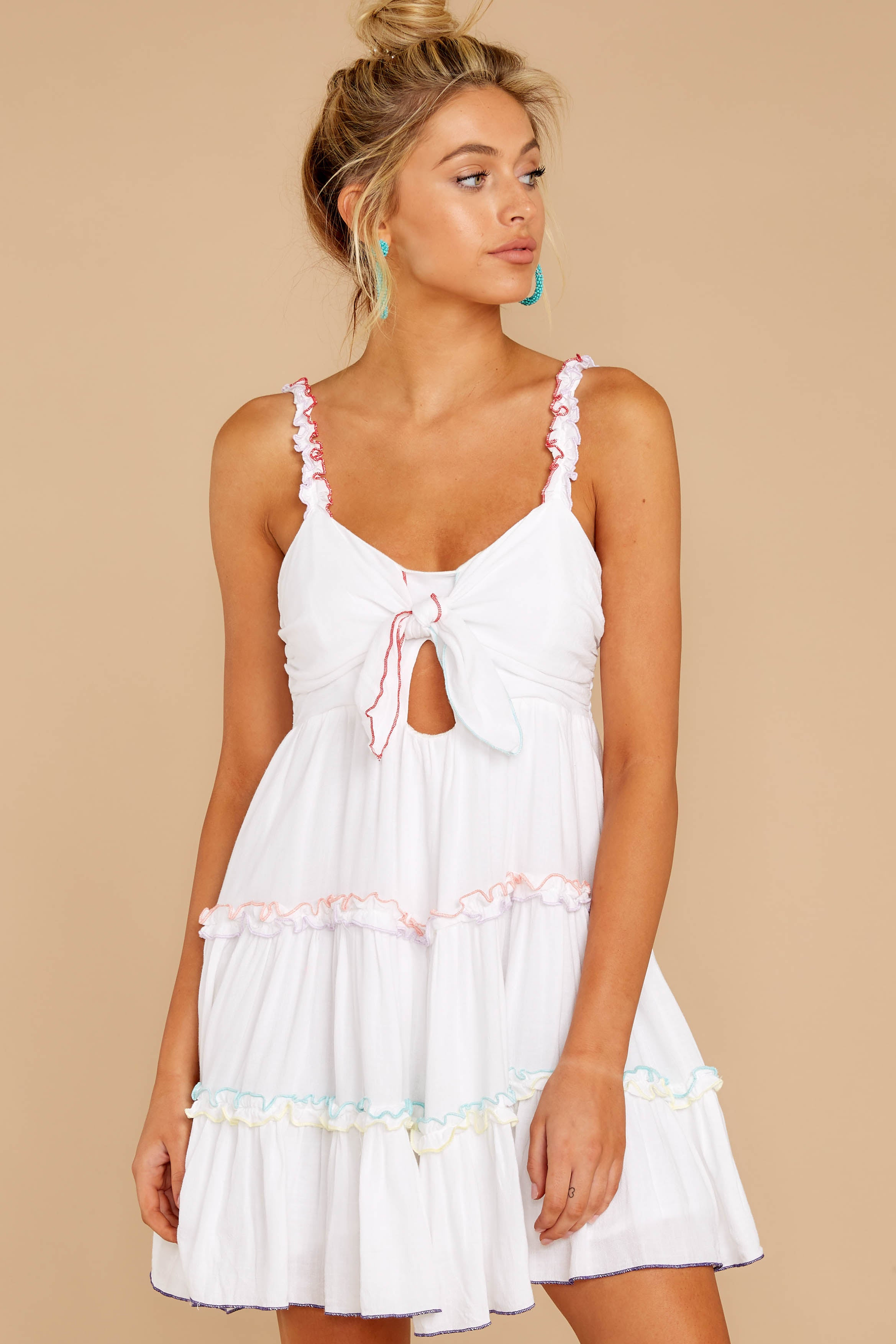 7 All The Pretties White Dress at reddressboutique.com