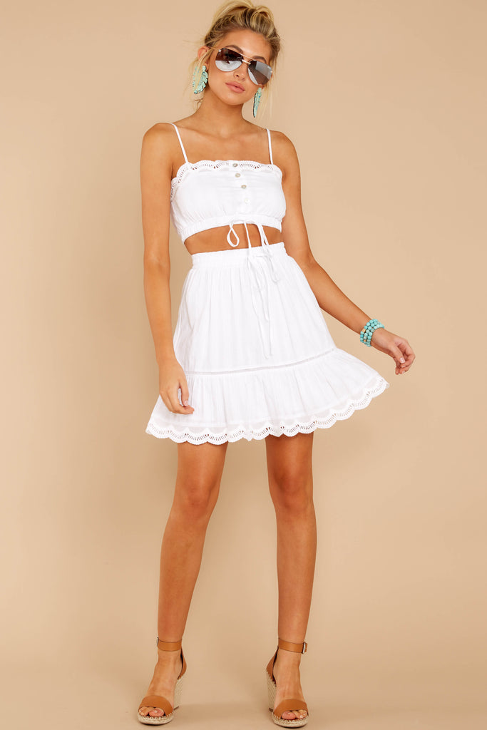 1 Forever After Ivory Eyelet Two Piece Set at reddressboutique.com